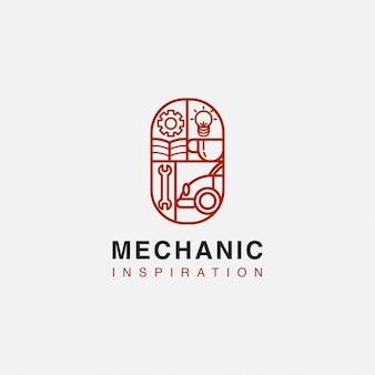 Garagem para obter o logotipo da inspiração