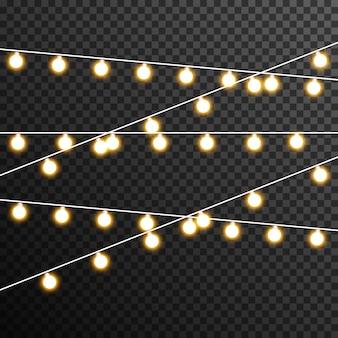 Garland light bulb decoration transparent