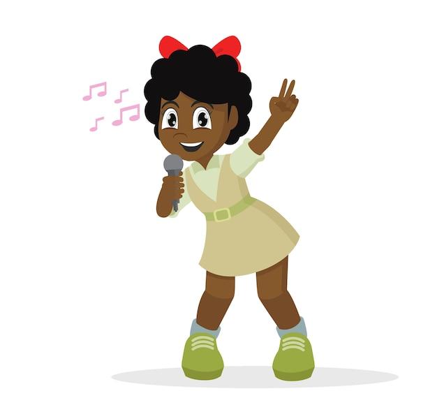 Garota africana cantando