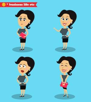 Garota de escritório inteligente permanente conjunto