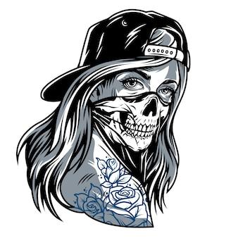 Garota de gangster chicano vintage