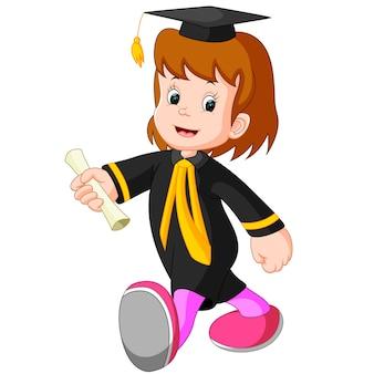 Garota feliz depois da formatura