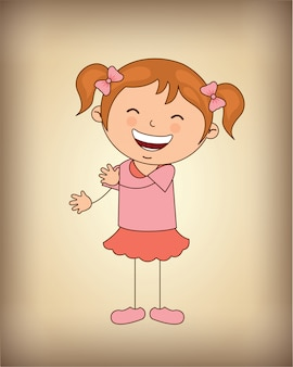 Garota feliz