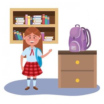 Garota garoto da escola
