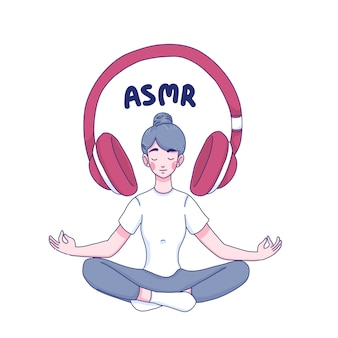 Garota ouve personagem de desenho animado asmr