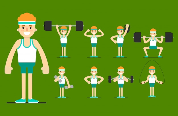 Garota pratica esportes. corpo bonito. definir exercício