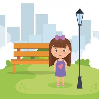 Garotinha no parque