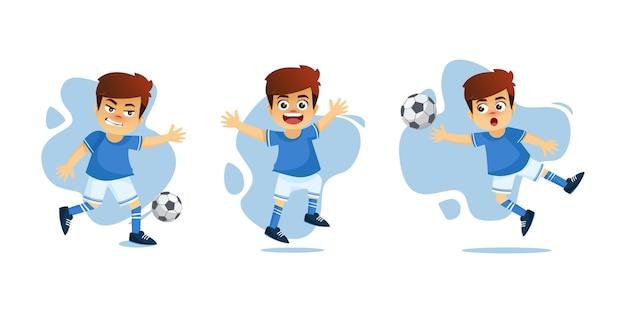 Garotinho jogando bola