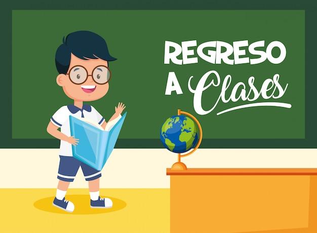 Garoto de volta à escola