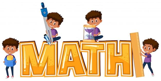 Garoto e matemática ícone