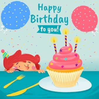 Garoto feliz aniversário