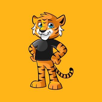 Garoto tigre relaxar