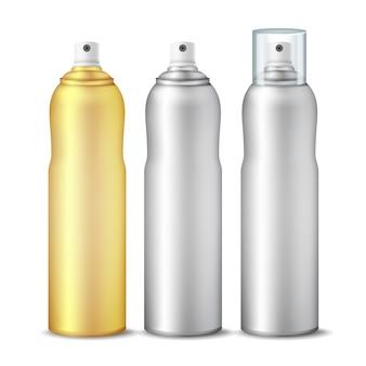 Garrafa 3d limpa pode pulverizar conjunto