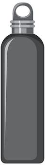 Garrafa de água de metal preto isolada