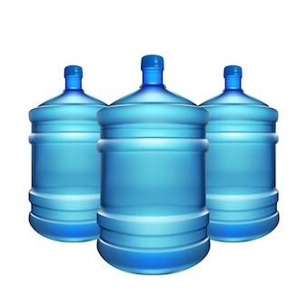 Garrafa de água grande Vetor Premium