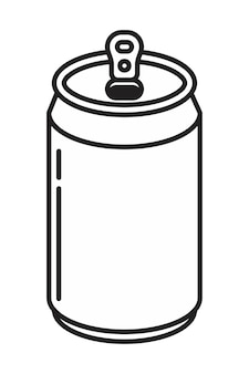 Garrafa de alumínio de soda pode ícone