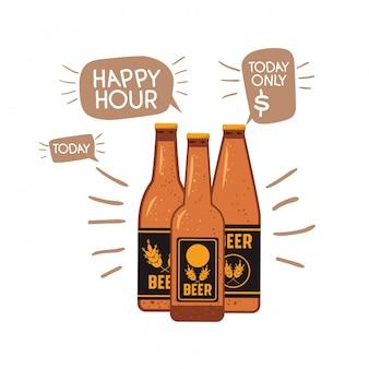Garrafa, de, cerveja, isolado, ícone
