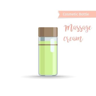 Garrafa de cosméticos para creme de massagem