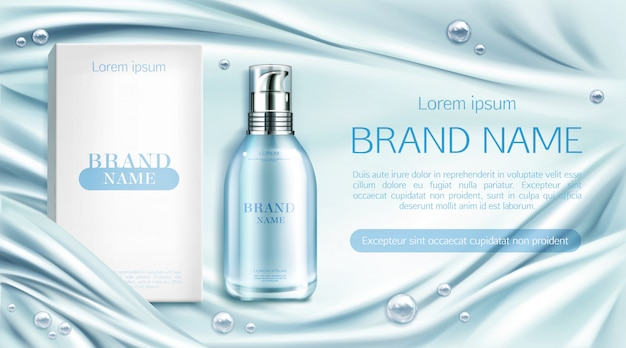 Garrafa de cosméticos spa produto de beleza natural