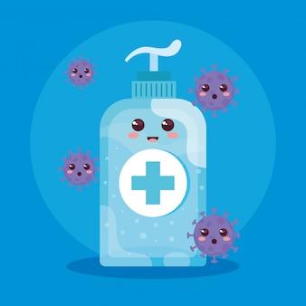 Garrafa de desinfecção e desinfetante de mamadeira, mamadeira para higiene, desinfecção, assistência médica e saúde, estilo kawaii