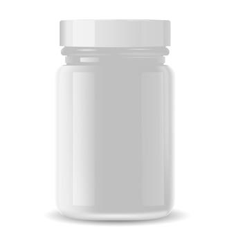 Garrafa de farmácia para produtos médicos, pílulas, drogas