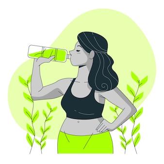 Garrafa de ilustração do conceito de água