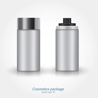 Garrafa de lata de spray.