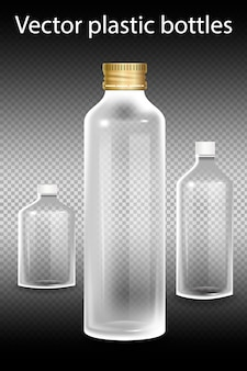 Garrafa de plástico com água mineral