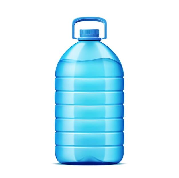Garrafa de plástico realista para entrega de água
