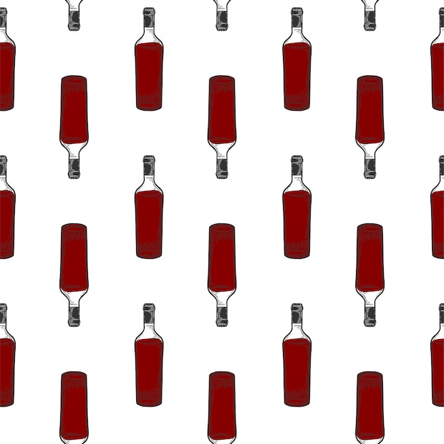 Garrafa de vinho, vidro.