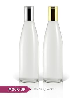 Garrafa de vodka realista ou outra garrafa de gim