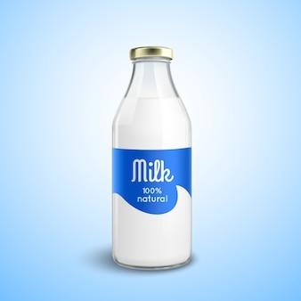 Garrafa fechada de leite