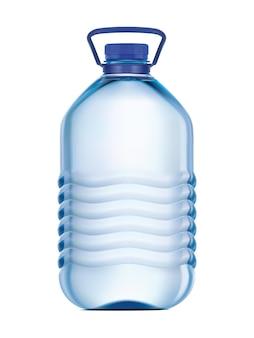 Garrafa grande de plástico com água potável.