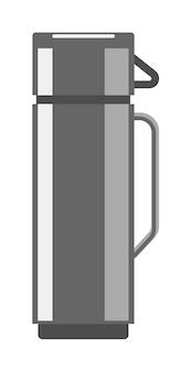 Garrafa térmica de aço inoxidável isolada no fundo branco