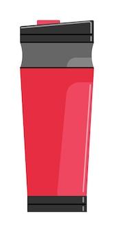 Garrafa térmica ou garrafa isolada no fundo branco