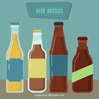 Garrafas de cerveja com tamanhos diferentes