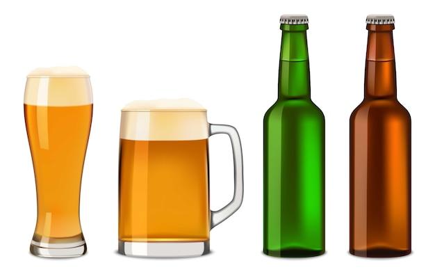 Garrafas de cerveja de vidro