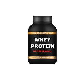 Garrafas de comida esportiva e barras de proteína com baixo teor de açúcar fitness nutrição símbolos de musculação
