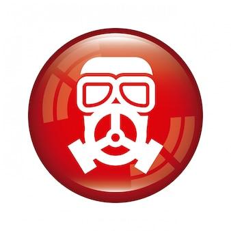 Gás de máscara