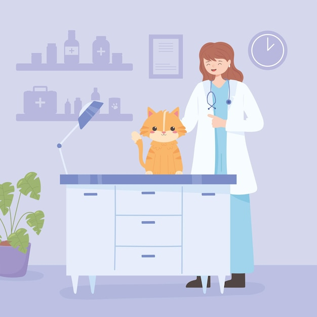 Gata veterinária