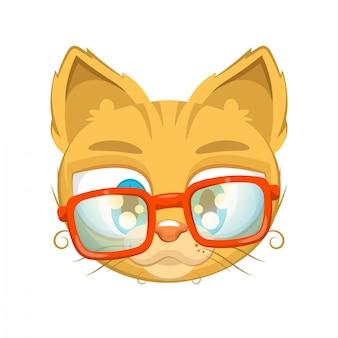 Gatinho fofo com óculos