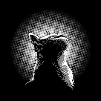 Gatinhos na ilustração da luz
