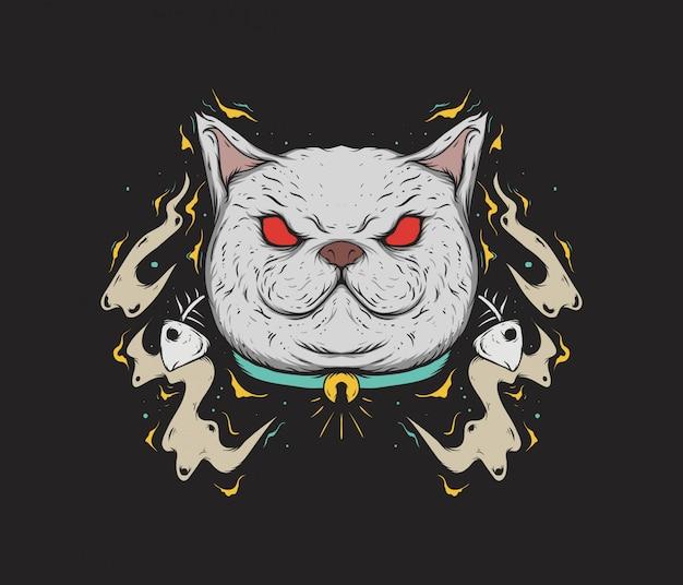 Gato com fome