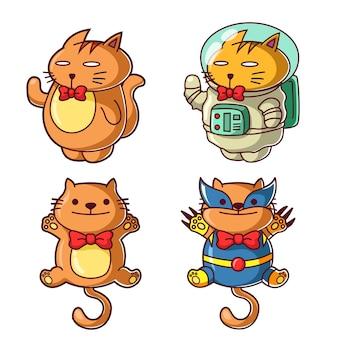 Gato com traje