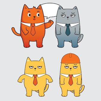 Gato dos desenhos animados falando