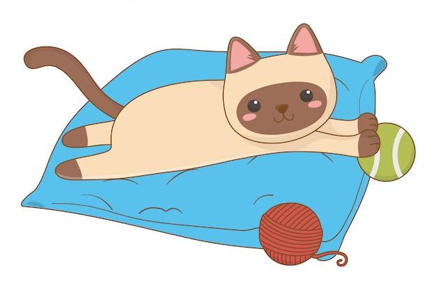 Gato isolado cartoon clip-art ilustração
