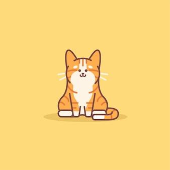 Gato laranja fofo