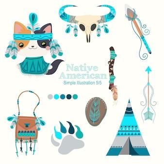 Gato nativo americano turquesa