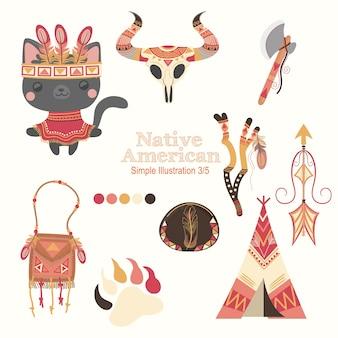 Gato nativo americano vermelho