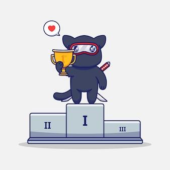 Gato ninja fofo vence um concurso